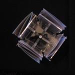 Stoni držač za flajere pleksliglas klirit RF4