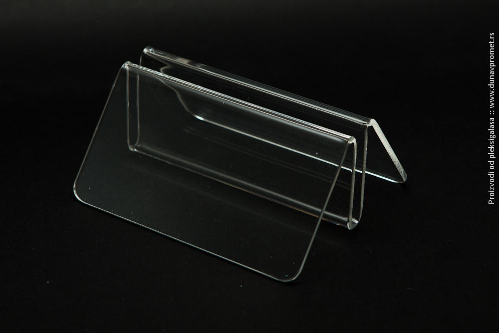 Stalak za jelovnik pleksliglas klirit